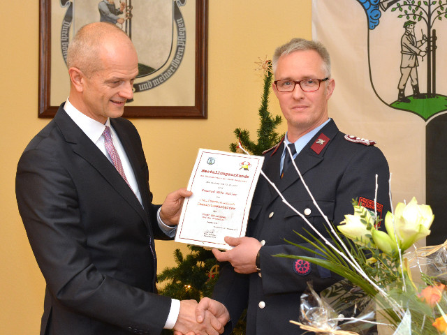 Bürgermeister Mike Purfürt und stellv. GWL Mike Müller