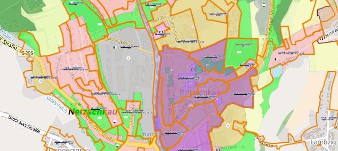 Flächennutzungsplan im Geoportal des Vogtlandkreises